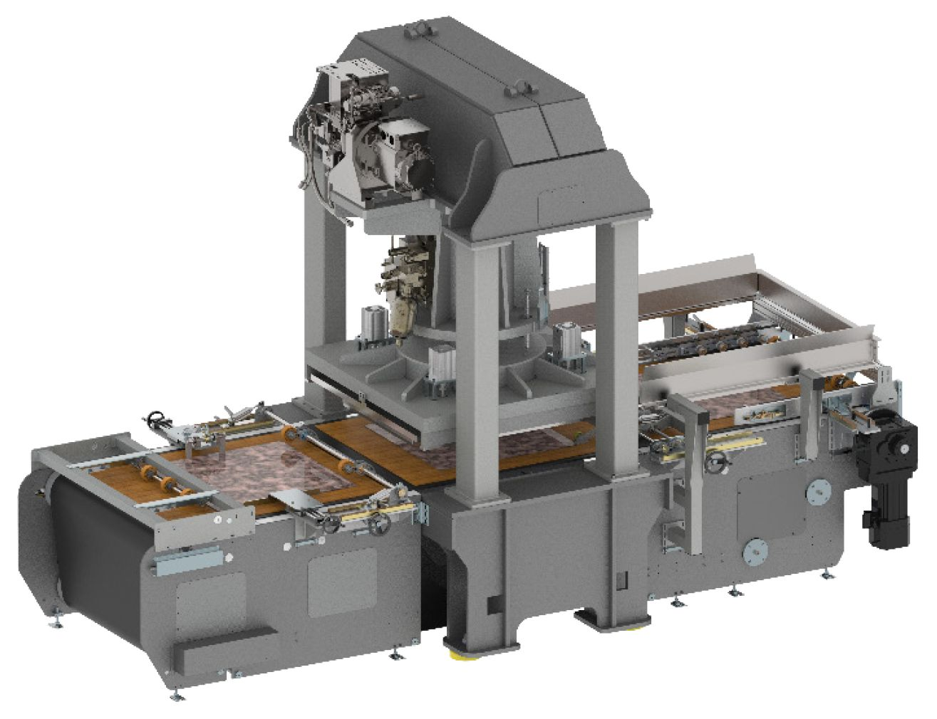 schoen+sandt die-cutting machine for the production of LVT