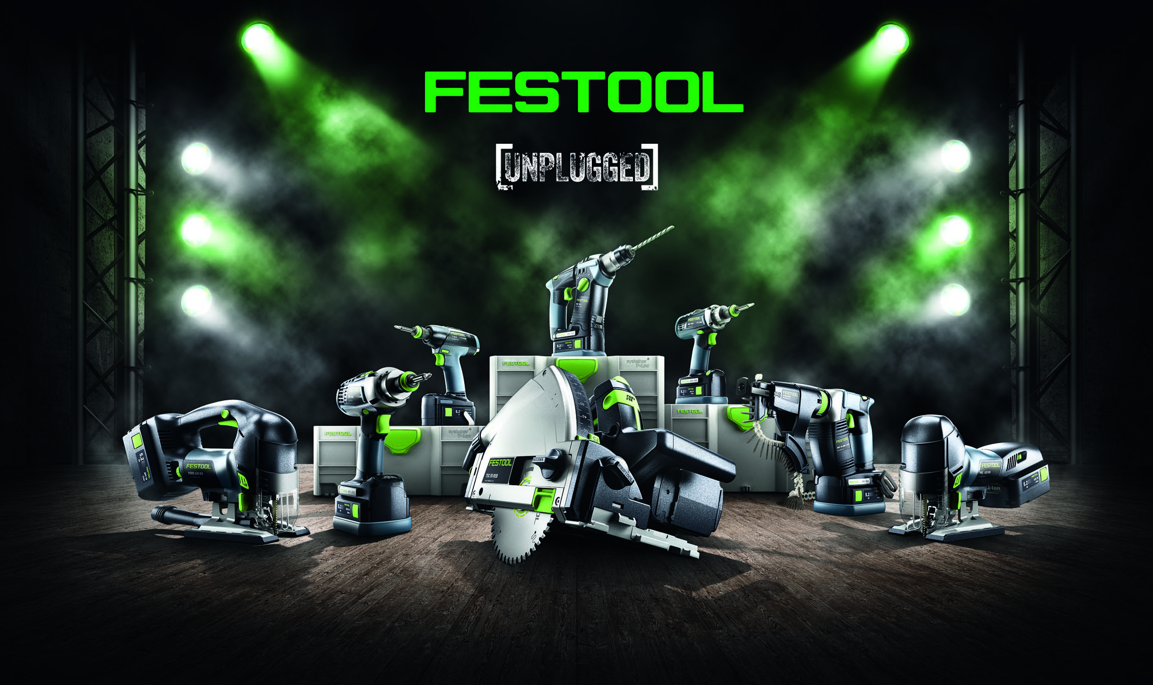 Festool power tools in the battery version