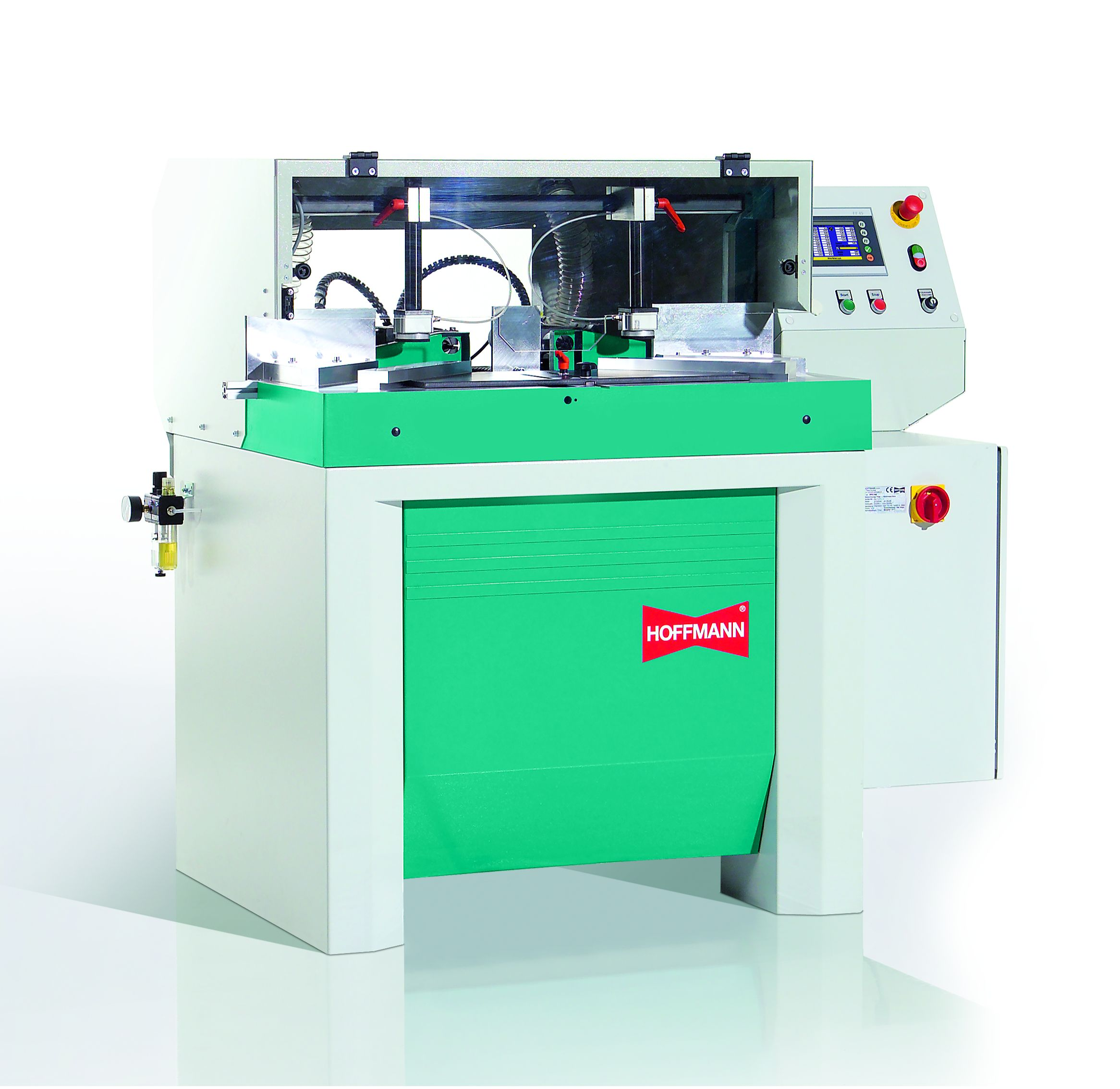 Groove milling and drilling machine