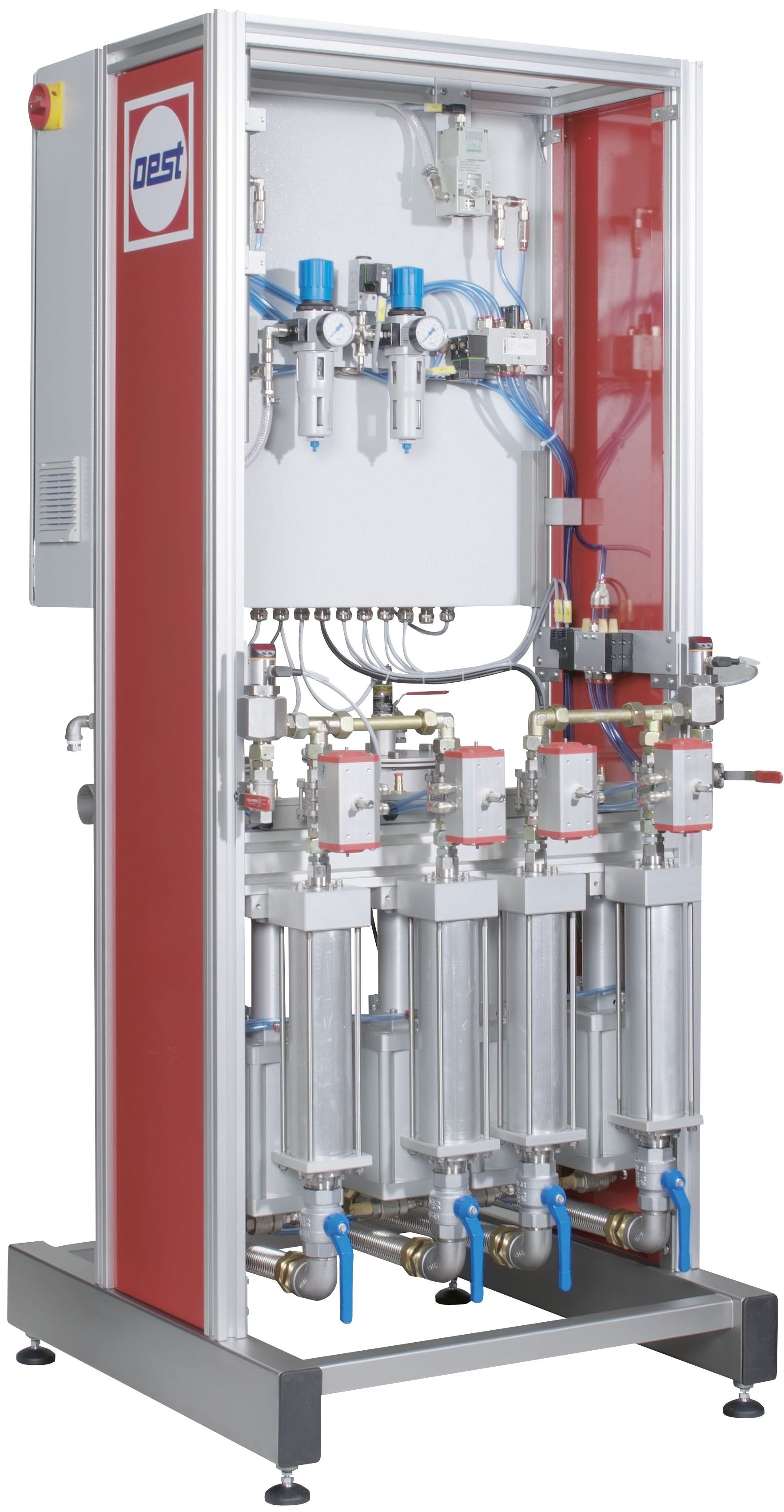 Dosing, mixing and application system for two-component adhesives